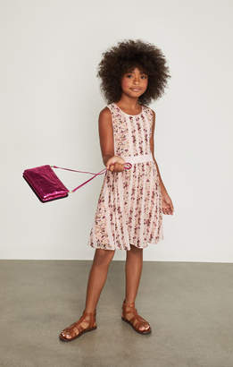 BCBGMAXAZRIA Lace Tiered Ruffle Dress