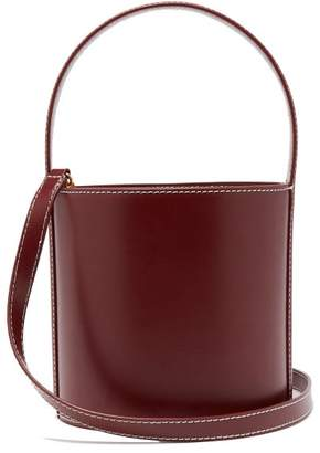 Staud - Bissett Leather Bucket Bag - Womens - Burgundy