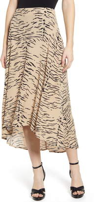 Leith Paneled Midi Skirt