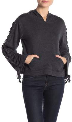 Cupcakes And Cashmere Empress Lace Up Hoodie