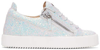 Giuseppe Zanotti White Glitter May London Sneakers