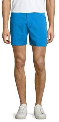 Orlebar Brown Bulldog Solid Swim Trunks, Blue $245 thestylecure.com