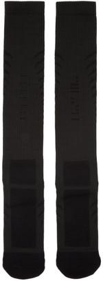 Unravel Black Back Bone Socks $75 thestylecure.com