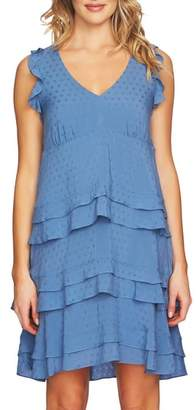 CeCe Sleeveless Tiered Ruffle Dress
