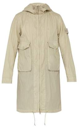 Stone Island Technical Cotton Blend Parka - Mens - Beige