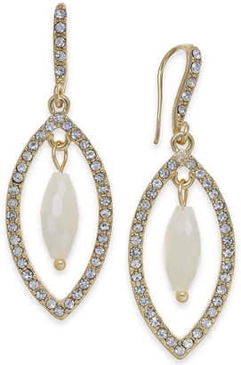 INC International Concepts I.n.c. Gold-Tone Stone & Pave Orbital Drop Earrings, Created for Macy's