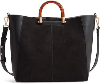 7850c446360 Topshop Sallie Faux Leather Shopper