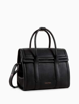 Calvin Klein pebble foldover city satchel
