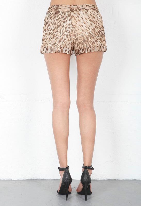 Haute Hippie Trouser Short in Buff Multi