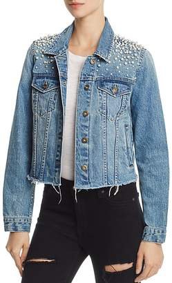 Sunset & Spring Mother-of-Pearl Beaded Denim Jacket - 100% Exclusive $98 thestylecure.com