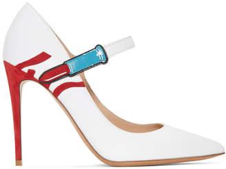 Valentino White Garavani Lipstick Heels