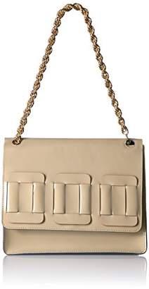 Orla Kiely Glass Leather Linked Square Bonnie Bag