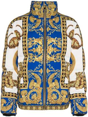 Versace Signature Dea feather down puffer jacket