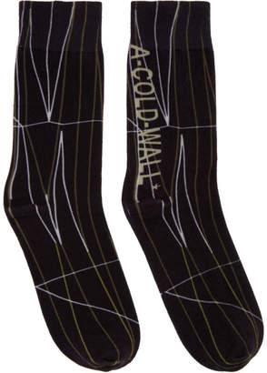 A-Cold-Wall* Black Knit Pattern Socks