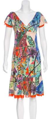 Fuzzi Short Sleeve Midi Dress