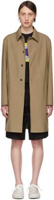 Kenzo Biege Two-Tone Trench Coat