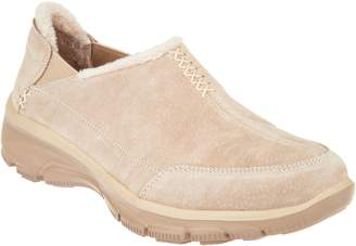 Skechers Faux Fur Slip On Shoes - Easy Going