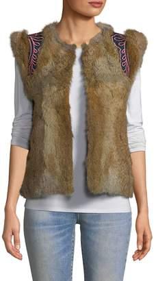 Antik Batik Women's Rabbit Fur Mally Vest