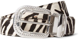 TAKAHIROMIYASHITA TheSoloist. 3cm Reversible Zebra And Leopard-Print Calf Hair Belt