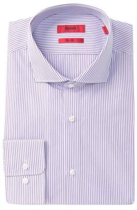 BOSS Vertical Stripe Sharp Fit Dress Shirt