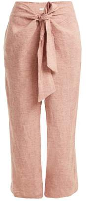 Masscob Tie-waist straight-leg linen trousers