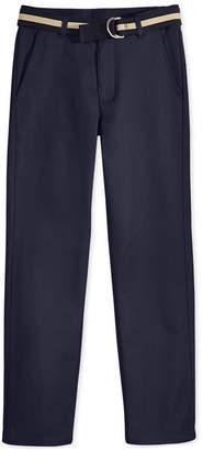 Nautica (ノーティカ) - Nautica Flat-Front Belted Twill Uniform Pants, Husky Boys