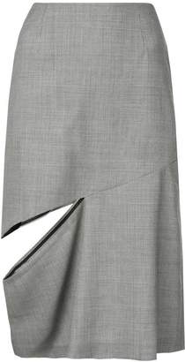 Maison Margiela cut-detail midi skirt
