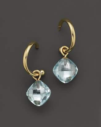 Bloomingdale's Blue Topaz Small Hoop Earrings in 14K Yellow Gold - 100% Exclusive