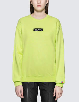 X-girl X Girl X Russell Box Logo Crew Sweatshirt