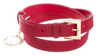 Dolce & Gabbana Embellished Grosgrain Belt