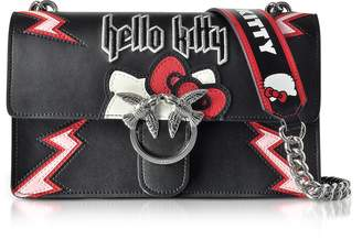 Pinko Love Hello Kitty Rock Black Eco Leather Shoulder Bag