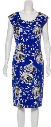 LK Bennett Floral Print Midi Dress
