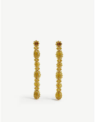 Simone Rocha Flower beaded drop earrings
