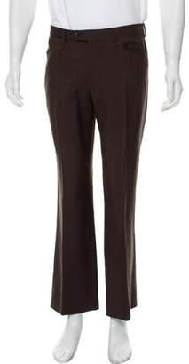 Prada Wool Flat-Front Pants
