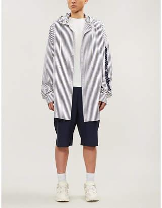 Juun.J JUUN J Text-embroidered pinstripe shirt