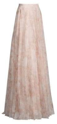 Jenny Yoo Winslow Long Printed Tulle Skirt