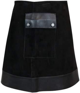 Longchamp Black Leather Skirts
