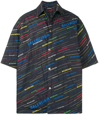 Balenciaga padded short sleeve shirt