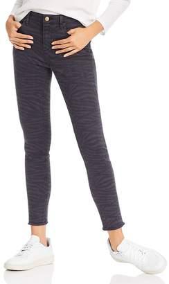 Aqua Zebra Print Skinny Jeans in Navy/Black - 100% Exclusive