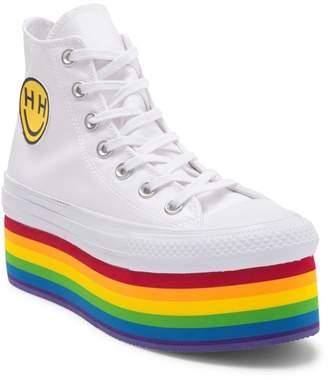 Converse Chuck Taylor All Star PRIDE Platform High Top Platform Sneaker (Women)