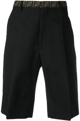 Fendi FF trimmed shorts