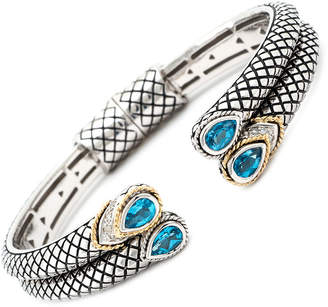 Candela Andrea Flecha 18K & Silver 2.25 Ct. Tw. Diamond & Blue Topaz Bangle