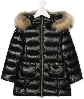 Herno Kids fur trimmed padded coat