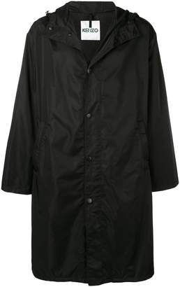 Kenzo square logo raincoat