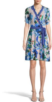 Label By 5twelve Floral Tie-Front Wrap Dress