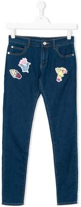 Kenzo multi-patches skinny jeans