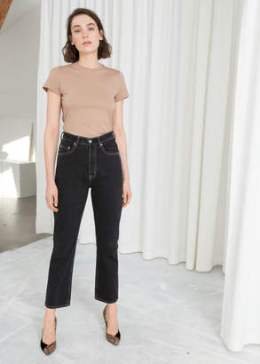 And other stories Cropped Straight High Rise Jeans