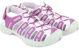 Khombu Girls Closed Toe Athletic Sandal (Girls 3)