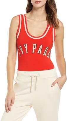 Ivy Park R) Baseball Logo Bodysuit