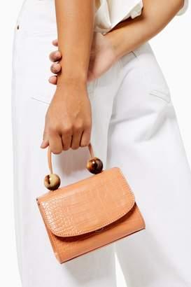 Topshop MASON Apricot Crocodile Mini Bag